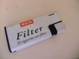 Encendedor Lighter BRIQUET A Gas Con Propaganda REIG Mini FILTER El Cigarrito Con Filtro - Briquets