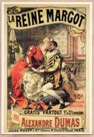 Cppub 050  Affiche 1914 LA REINE MARGOT Alexandre DUMAS Jules ROUFF Cloitre St HONORE PARIS  REPRO AMOUREUX IMAGE N°4 - Advertising