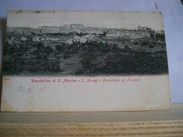 Datata 26/07/1908 - Repubblica Di S. Marino - S. Marino - Panorama Da Ponente - Ed. Ditta A. Reffi - San Marino