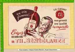 BUVARD : Les Bons Vins TH SENECLAUZE - Schnaps & Bier