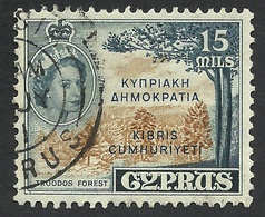 Cyprus, 15 M. 1960, Sc # 187, Mi # 183B, Used. - Cyprus (Republic)