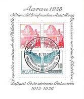 """Schweiz Suisse 1938: """"Aarau"""" Zu WIII 11 Mi Block 4 Yv BF4 Mit Ersttag-Stempel AARAU 17.9.1938 (Zu CHF 45.00) - Bloques & Hojas"""