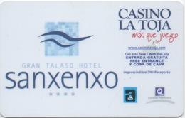 Carte Clé Hôtel Avec Publicité Casino : Gran Talaso Sanenxo / Casino La Toja (Espagne) - Cartes D'hotel