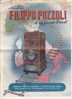 """ERBA (Como) / Brochure Pubblicitaria """" Ditta FILIPPO POZZOLI - Fabbrica Stufe Di Ceramica A Circolazione D'Aria """" Firma - Publicités"""