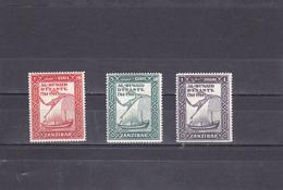 Zanzibar Neuf *  1944    N°  196/198   Bicentenaire Dynastie D'Al Busaid - Zanzibar (1963-1968)