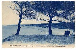 Tarjeta Postal Circulada St. Brevin Les Pins. La Plage Et La Cote Prises De La Dune. - Saint-Brevin-les-Pins