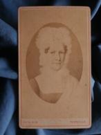Photo CDV Roth à Thionville - Repro D'un Portrait Peint Tante Mathieu Soeur Gd Mère Saur  Tante Gd Père Renaut L425 - Old (before 1900)