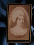 Photo CDV Roth à Thionville - Repro D'un Portrait Peint 1er Empire Mme Leroy L425 - Old (before 1900)