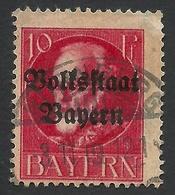 Bavaria, 10 Pf. 1919, Sc # 139, Mi # 119A, Used, Nurnberg - Bavaria