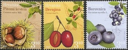 HR 2018-1308-10 FRUTS, HRVATSKA CROATIA, 1 X 3v, MNH - Obst & Früchte