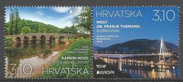 HR 2018-1318-9 EUROPA CEPT, HRVATSKA CROATIA, 1 X 2v, MNH - Kroatien