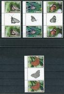 """Samoa - Mi.Nr. 1255 /1258 Gutter Pair - """"Schmetterlinge"""" ** / MNH (aus Dem Jahr 2015) - Samoa (Staat)"""
