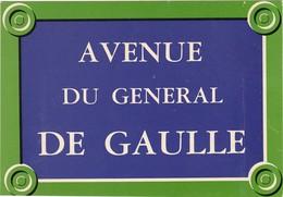 PARIS : Avenue Du Général DE  GAULLE (série Plaques De Rue De Paris ) - Sonstige