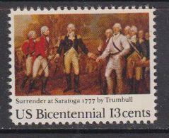 USA 1977 Bicentennial / Surender At Saratoga 1v ** Mnh (41805) - Verenigde Staten