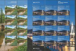 HR 2018-1318-9 EUROPA CEPT, HRVATSKA CROATIA, 2MS, MNH - Kroatien
