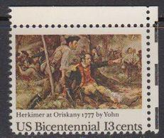 USA 1977 Bicentennial / Battle Of Oriskany 1v (corner) ** Mnh (41805C) - Verenigde Staten