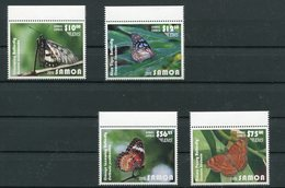 "Samoa - Mi.Nr. 1255 /1258 - ""Schmetterlinge"" ** / MNH (aus Dem Jahr 2015) - Samoa (Staat)"