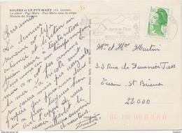 CP FLAMME CHEYLADE DANS LE PARC DES VOLCANS D AUVERGNE - Postmark Collection (Covers)