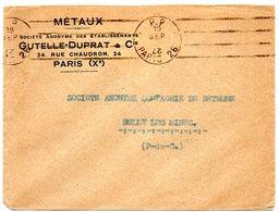 PARIS 26  1928 = FLAMME PP KRAG ' 4 LIGNES DROITES PARRALELES INEGALES ' - Marcophilie (Lettres)
