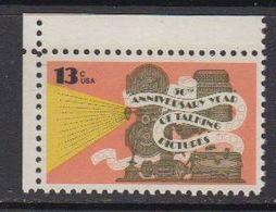 USA 1977 Talking Pictures 1v (corner)  ** Mnh (41805D) - Verenigde Staten