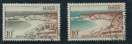 [28] Variété : N° 978 Royan Vert Au Lieu De Bleu (Dallay 996b ) + Normal  ° - Errors & Oddities