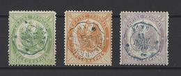FRANCE.  YT Timbres-Télégraphe  N° 6-7-8  Oblitération  1868 - Télégraphes Et Téléphones