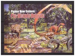 PAPUA NEW GUINEA  2004 Prehistoric Animals M/S MNH - Papua-Neuguinea