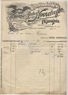 Gebr. NOORDUIJN  Stoomtabaksfabriek  NIJMEGEN   Het Wapen Van America Factuur 4 Mei 1917 - Pays-Bas