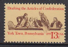 USA 1977 Drafting The Articles Of Confederation, York Town, Pennsylvania 1v ** Mnh (41805E) - Verenigde Staten