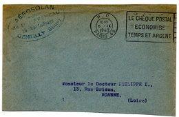 PARIS 49  1949 = FLAMME PP FLIER ' LE CHEQUE POSTAL ECONOMISE TEMPS ET ARGENT ' - Marcophilie (Lettres)