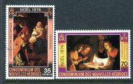 Nouvelles Hebrides 1974 Christmas Set MNH (SG F211-F212) - Ungebraucht