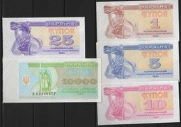 B 134 - UKRAINE Série De 5 Billets Année 1991  état Neuf 1er Choix - Ukraine