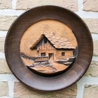 Art-antiquité_sculpture Bois_99_chalet Suisse - Wood