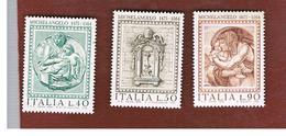 ITALIA REPUBBLICA -  UN.1289.1291  -  1975 MICHELANGELO BUONARROTI (SERIE COMPLETA DI 3)  -  NUOVI **(MINT) - 6. 1946-.. Repubblica