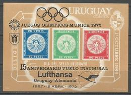 Uruguay,15 Years As The Crow Flies Uruguay-Germany 1972.,block,MNH - Uruguay