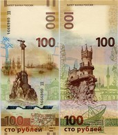 RUSSIA       100 Rublej       Comm.      P-275a       2015       UNC  [ Prefix KC ] - Russie