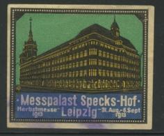 Messpalast Specks-Hof - Herbstmesse 1913 - Leipzig - Erinnophilie