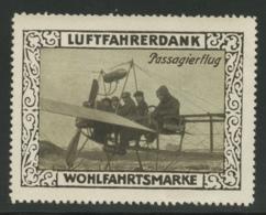 Wohlfahrtsmarke - Luftfahrerdank - Passagierflug - Erinnophilie