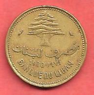 10 Piastres , LIBAN , Nickel-Bronze , 1970 , N° KM # 26 - Liban