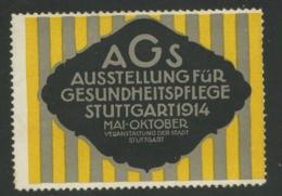 AGS - Ausstellung Für Gesundheitspflege Stuttgart 1914 - Erinnophilie