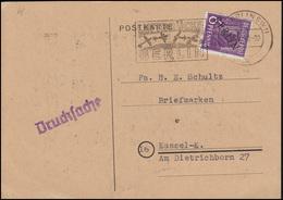 2 Schwarzaufdruck 6 Pf Als EF Drucksache Luftbrücken-Stempel Berlin 25.10.48 - Berlin (West)