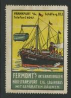 Fermont's Internationaler Möbeltransport - Frankfurt Schäferg - Erinnophilie