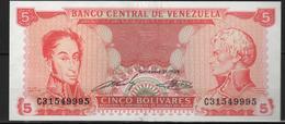 B 136 - VENEZUELA Billet De 5 Bolivars  état Neuf 1er Choix - Venezuela