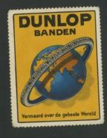 Dunlop Banden - Vermaard Over De Geheele Wereld - Erinnophilie