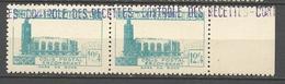 ALGERIE COLIS POSTAUX N° 159 Variétée 1 De 12.4 Plus Grand Tenant à Normal NEUF** SANS CHARNIERE  / MNH - Algérie (1924-1962)