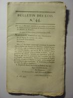 BULLETIN DES LOIS De GERMINAL AN XIII (MARS 1805) - ITALIE CIRCONSCRIPTION DES DIOCESES DU PIEMONT LATIN ET FRANCAIS - Décrets & Lois