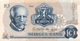 Norway 10 Kroner, P-36c (1981) - UNC - Norvège