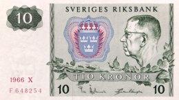 Sweden 10 Kronor, P-52b (1966) - UNC - Suède