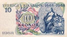 Sweden 10 Kronor, P-56 (1968) - UNC - 300 Years Central Bank - Schweden