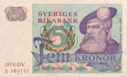 Sweden 5 Kronor, P-51c (1976) - UNC - Sweden
